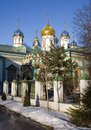 Old believer rogozhsky community of moscow the church st nicholas the wonderworker the golden dome orthodoxy Stock Images