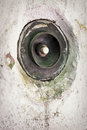 Old bell button dirty at a wall Stock Photography