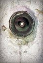 Old bell button dirty at a wall Stock Images