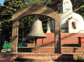 Old bell hindu temple in kathmandu valley nepal Stock Images
