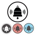 Old bell icons colorful illustration with for your design Stock Images
