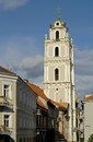 Old bell tower in vilnius lithuania Royalty Free Stock Photography