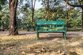 Old bench empty recycle wooden in the park Royalty Free Stock Image