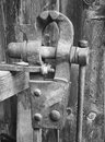 Old bench vise at a workshop Royalty Free Stock Photo