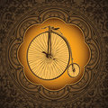 Old bicycle background. Stock Photo