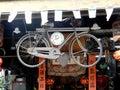 Old bicycle clock china Royalty Free Stock Photo