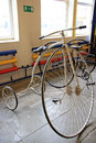 Old bicycle exhibit in museums mosfilm tricycle moscow Stock Photography