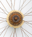 Old Bicycle gear, rusty metal cogwheel. Royalty Free Stock Photo