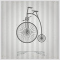 Old bicycle on a gray background Royalty Free Stock Images