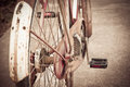 Old bicycle vintage grunge chain detail Royalty Free Stock Images
