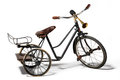 Old bike in retro style on a white background Royalty Free Stock Images