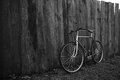 Old bike on the street vintage photo Stock Image