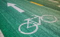 Old bike track bicycle symbol have deteriorate and wave Royalty Free Stock Photos