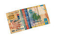 Old bill tenge worn banknote denomination of Royalty Free Stock Photos