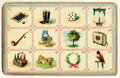 Old bingo card figurative Royalty Free Stock Photo