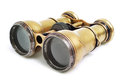 Old binoculars on white background Stock Image