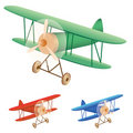 Old biplane Stock Photo