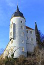 Old bishops castle meissen germany the tower of the former now court in saxony Royalty Free Stock Image