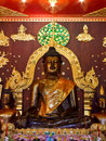 Old black Buddha statue Royalty Free Stock Photography