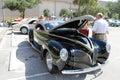 Old Black Car at the car show Royalty Free Stock Photo