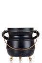 Old black cauldron Royalty Free Stock Photo