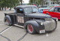 Old Black Chevy Pickup Truck Royalty Free Stock Photo