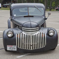 Old Black Chevy Pickup Truck Front View Stock Photography