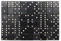 Old black dominoes tiles background Royalty Free Stock Photo