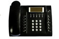 Old Black office telephone isolated on white background Royalty Free Stock Photo