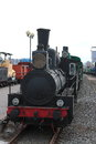 Old black steam locomotive Royalty Free Stock Photo