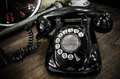 Old black telephone Royalty Free Stock Photo