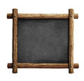 Old blackboard or chalkboard with wooden frame isolated on white Royalty Free Stock Photography