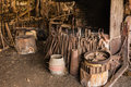 Old blacksmith workshop with tools and furnace Royalty Free Stock Photo