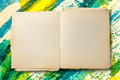 Old blank notebook open Royalty Free Stock Photo