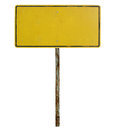Old blank traffic sign Stock Photography