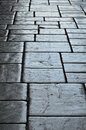 Old block pavement of Granada Stock Image
