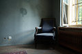 Old blue chair Royalty Free Stock Photo