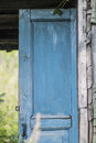 Old blue door Royalty Free Stock Photo