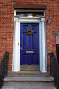 An old blue entrance door Royalty Free Stock Photography