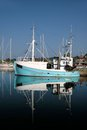 Old blue fishing boat Royalty Free Stock Photo