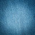 Old blue jean or denim cloth texture close up background Royalty Free Stock Photography