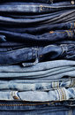 Old Blue Jeans Stock Photography