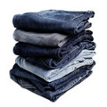 Old Blue Jeans Royalty Free Stock Images