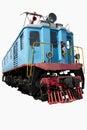 Old blue locomotive