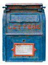 Old Blue Mailbox Stock Images