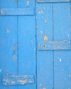 Old blue painted wood background closeup Royalty Free Stock Photography
