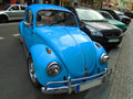 Old blue preserved beetle Volkswagen. Prague, Czech Republic,