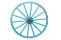 An old  blue wagon wheel Royalty Free Stock Photo
