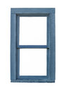 Old blue wooden window isolated. Royalty Free Stock Photo