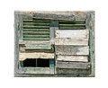 Old boarded up window Royalty Free Stock Photo